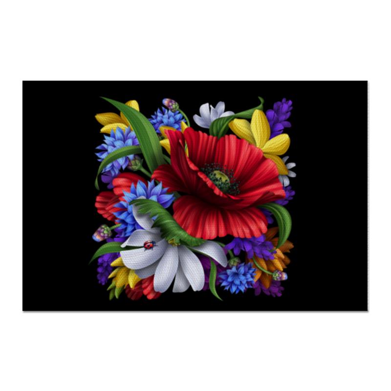 Холст 60x90 Printio Композиция цветов свадебная композиция