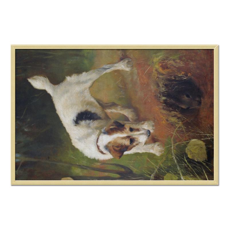 Холст 60x90 Printio 2018 год желтой земляной собаки цены онлайн