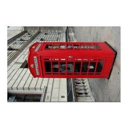 "Холст 60x90 ""London Phone Booth"" - london, лондон, phone booth, телефонная будка, арт дизайн"