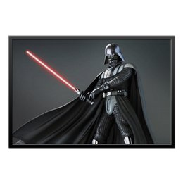 "Холст 60x90 ""Star Wars - Darth Vader"" - дарт вейдер, звездные войны, фантастика, воин, лазерный меч"