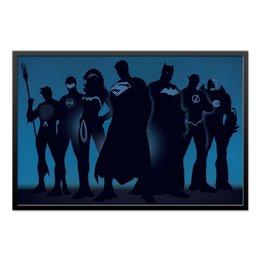 "Холст 60x90 ""Justice League/Лига Справедливости"" - комикс, комиксы, dc comics, justice league, лига справедливости"