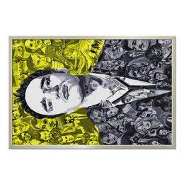 "Холст 60x90 ""Quentin Tarantino"" - актеры, тарантино, иллюзия, квентин, quentin tarantino"