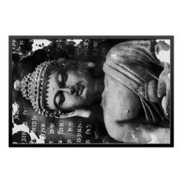 "Холст 60x90 ""Будда (Письмена)"" - философия, религия, buddha, будда, духовность"