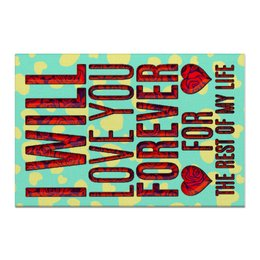 """Холст 60x90 """"Любовь до гроба!"""" - любовь, сердца, 8марта, валентин, свадьва"""
