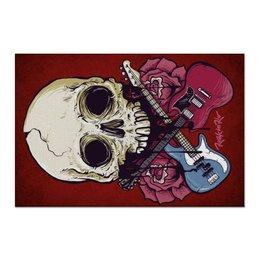 """Холст 60x90 """"Rock in Rio - фестиваль рок музыки"""" - heavy metal, рок музыка, skull, хеви метал, череп"""