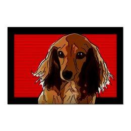 "Холст 60x90 ""Такса"" - животные, собаки, такса"