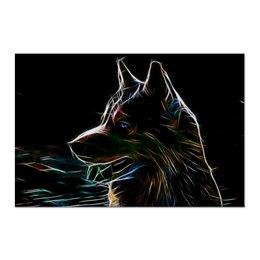 "Холст 60x90 ""Сибирский Хаски"" - хаски, собаки, husky, сибирский хаски"