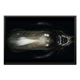 "Холст 60x90 ""Alien / Чужой"" - хищник, комикс, комиксы, alien, aliens"