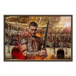 """Холст 60x90 """"Spartacus"""" - спартак, история, spartacus, гладиатор, финикией"""
