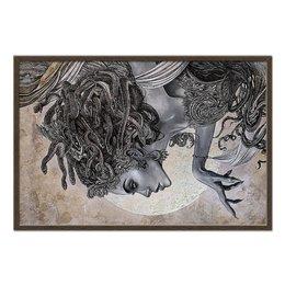 "Холст 60x90 ""Medusa Gorgona"" - женщине, змеи, горгона, медуза, миф"