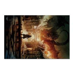 """Холст 60x90 """"Хоббит"""" - дракон, кино, властелин колец, hobbit, фродо"""