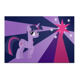 "Холст 60x90 ""Twilight Sparkle Color Line"" - twilight sparkle, cutiemark, princess"