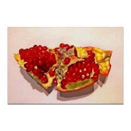 "Холст 60x90 ""Улыбка Бога"" - фрукты, натюрморт, гранат, настя родыгина, фотопечать, модерн, pomegranate"