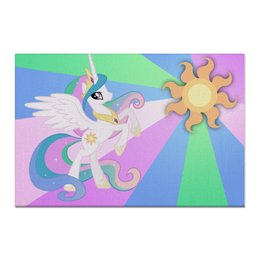 "Холст 60x90 ""Princess Celestia Color Line"" - magic, celestia, friendship, princess"