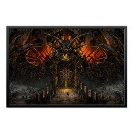 """Холст 60x90 """"Gateway To Hell / Ворота в ад"""" - мистика, мифология, мировозрение, фэнтази, ворота в ад"""