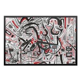 "Холст 60x90 ""Mamewax"" - арт, узор, абстракция, фигуры, медитация"