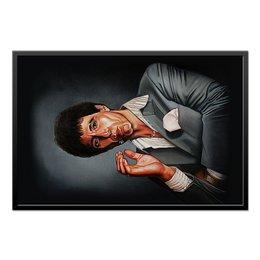 """Холст 60x90 """"Tony Montana - Scarface"""" - мафия, аль пачино, лицо со шрамом, бандиты, тони монтана"""