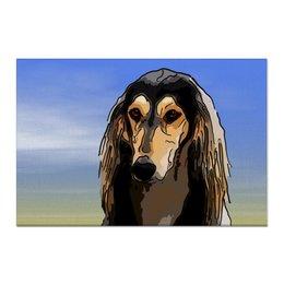 "Холст 60x90 ""Салюки"" - животные, собаки, борзая, салюки"
