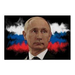 "Холст 60x90 ""Путин Патриот Страны"" - россия, russia, путин, президент, putin"