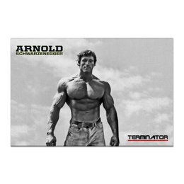 "Холст 60x90 ""Arnold Schwarzenegger"" - arnold schwarzenegger, terminator, терминатор, ретро, арнольд шварценеггер"