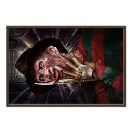 "Холст 60x90 ""Freddy Krueger"" - монстр, ужасы, фредди крюгер, freddy krueger, серийный маньяк"