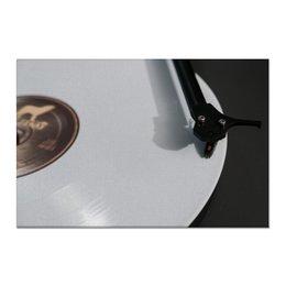 """Холст 60x90 """"Белая пластинка"""" - музыка, ретро, пластинка, проигрыватель"""