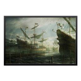 "Холст 60x90 ""Корабли"" - корабли, порт, ships, harbor"