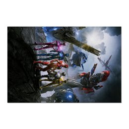 "Холст 60x90 ""Power Rangers"" - комиксы, фантастика, супергерои, power rangers, могучие рейнджеры"