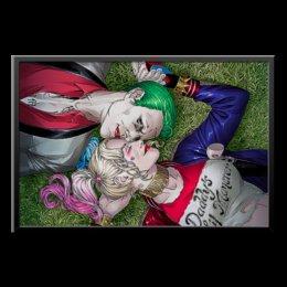 "Холст 60x90 ""The Joker&Harley Quinn Design"" - джокер, харли квинн, dc комиксы, отряд самоубийц, безумная любовь"