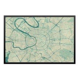 """Холст 60x90 """"Карта Москвы (Винтаж)"""" - москва, карта, города, картина, винтаж"""