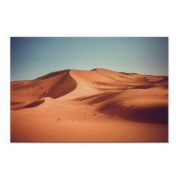 """Холст 60x90 """"В дюнах"""" - природа, рассвет, фотография, путешествия, туризм"""