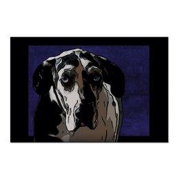 "Холст 60x90 ""Немецкий Дог"" - животные, собаки, дог"