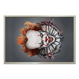 """Холст 60x90 """"Pennywise"""" - pennywise, клоун, маньяк, пеннивайз, убийца"""