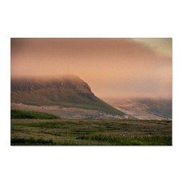 "Холст 60x90 ""Фьорды на закате"" - природа, закат, путешествия, исландия, север"