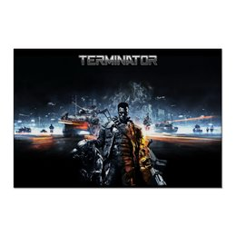 "Холст 60x90 ""Terminator"" - ретро, arnold schwarzenegger, терминатор, terminator, арнольд шварценеггер"