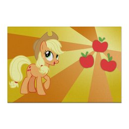 "Холст 60x90 ""AppleJack Color Line"" - magic, fim, applejack, cutiemark, friendship"