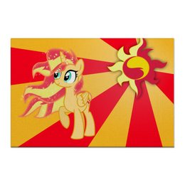 "Холст 60x90 ""Sunset Shimmer Color Line"" - sun, cutiemark, sunset shimmer"