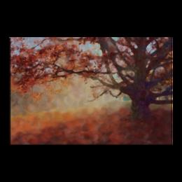"""Холст 60x90 """"Осень"""" - осень, пейзаж, дерево, живопись"""