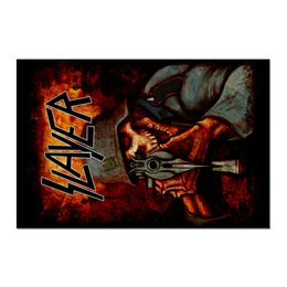 "Холст 60x90 ""Slayer Band"" - рок музыка, рок группа, slayer, thrash metal, трэш метал"