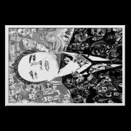 "Холст 60x90 ""Quentin Tarantino"" - портрет, актеры, тарантино, квентин, quentin tarantino"