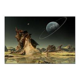 """Холст 60x90 """"Неизведанное"""" - планета, космос, миры"""