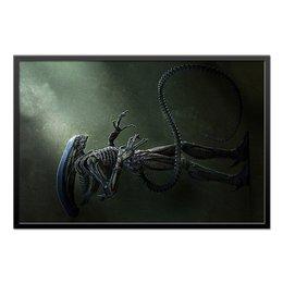 """Холст 60x90 """"ALIEN Design"""" - монстр, инопланетянин, чужой, пришелец, киноманам"""
