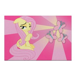 "Холст 60x90 ""Fluttershy Color Line"" - magic, fim, fluttershy, cutiemark, friendship"