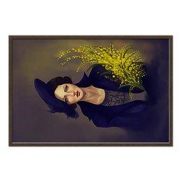 """Холст 60x90 """"Margarita"""" - цветы, искусство, мастер и маргарита, маргарита, киноманам"""