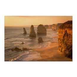 "Холст 60x90 ""Австралийский закат"" - природа, закат, путешествия, туризм, австралия"