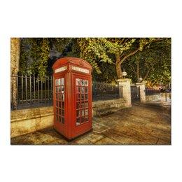 "Холст 60x90 ""London Phone Booth"" - london, лондон, фотография, phone booth, телефонная будка"