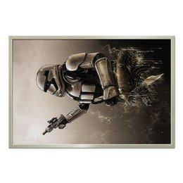 "Холст 60x90 ""Stormtrooper Vs Alien (Star Wars)"" - фантастика, star wars, чужой, звездные войны, штурмовик"