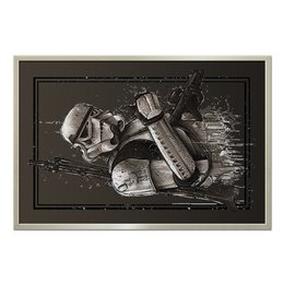 "Холст 60x90 ""Star Wars Design (Stormtrooper)"" - star wars, stormtrooper, штурмовик, фантастика"