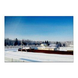 "Холст 60x90 ""Зима. Мороз. Солнце."" - зима, солнце, снег, мороз"