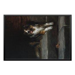 """Холст 60x90 """"Колли (картина Артура Вардля)"""" - картина, собака, колли, живопись, артур вардль"""